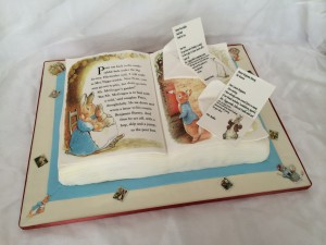 Peter Rabbit book made with icing sheets
