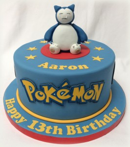 Pokemon birthday cake using icing sheets